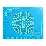 Rutschfeste Silikonmatte mit Abmessungen (50×40cm) für Silikon-Backmatten, Antihaftbeschichtete...