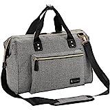RUVALINO Baby Wickeltasche Groß Windel-Einkaufstasche Mit Wickelauflage Und Isolierte Tasche (Grau)