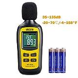 URCERI Schallpegelmessgerät - Digital Sound Level Meter Lärm-/ db-Messgerät mit Messbereich 35dB...