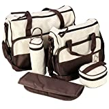 ADOO 5teiliges Bär Baby Wickeltaschen Casual Messenger Bag Umhängetasche Schultertasche Mutter-Kind-Tasche Mama Handtasche
