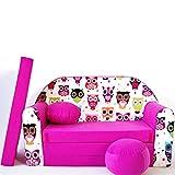 Kinder Sofa Couch Baby Schlafsofa Kinderzimmer Bett gemütlich verschidene Farben und motiven (H17...