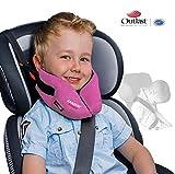 SANDINI SleepFix Kids Outlast – Kinder Schlafkissen/ Nackenkissen mit Stützfunktion und Temperaturausgleich – Kindersitz-Zubehör für Auto/ Fahrrad/ Reise – Verhindert Abkippen des Kopfes im Schlaf