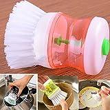 sunnymi Flüssigseife Bürste Küchen Hände Spülbürste Für Waschutensilien Topf mit dem Abwasch Spender (zufällig, 8.5cm*6.5cm)