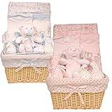 Bee Bo Baby Basket -Geschenk-Set zum 0 - 3 Monate – Puppy Dog, Wickeln, Bodysuit, Hose, Bootees, Lätzchen, Wash & Spucktücher