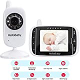 HelloBaby HB32 Wireless Video Babyphone mit Digitalkamera, Nachtsicht Temperaturüberwachung & 2 Way Talkback System,Weiß