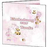 Taufe EInladungskarten Einladung Rosa Mädchen It is a girl 10 Karten + Umschläge