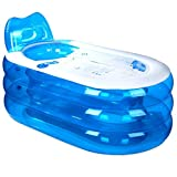 Verdickungs-aufblasbare Badewanne, Erwachsene Badewanne PVC, Faltbare Plastikbadewanne, Eimer (L x B x H: 145 * 80 * 70cm)