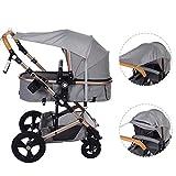 Sonnensegel für Kinderwagen TBoonor Universal Sonnensegel mit UV Schutz/Staubdicht/Winddicht...