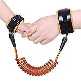 Kidsidol Baby-Kind-Anti verlorene Sicherheits-Handgelenk-Verbindungs-Kindergeschirr-gehende Leine-Handband-Armband-Handgelenk-Verbindung-weiches bequemes sicheres für Kleinkinder (Orange)