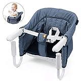 Tischsitz Faltbar Babysitz Baby Hochstuhl Sitzerhöhung für zu Hause und Unterwegs mit...