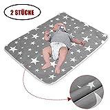 2 Stück Wasserdicht Wickelunterlage für Babys und Kleinkinder - Atmungsaktiv, Waschbar, Wiederverwendbare Urin Matte Abdeckung (M - 50 x 70 cm (2 Stück))