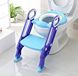 keplin Töpfchen WC-Sitz verstellbar Baby Kleinkind Kid WC-Trainer mit Schritt Hocker Leiter für...