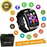 Smartwatch mit Kamera Touchscreen Wasserdicht Smart watch mit Sim Card Slot Facebook Whatsapp Schrittzähler Fitness Tracker Intelligente Armbanduhr Kompatibel ios iPhone Android Handys Damen Herren Kinder (Schwarz)