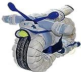 Windelmotorrad Jungen ROCKSTAR blau - Windeltorte Motorrad für Junge - Baby Geschenk zur Geburt...