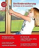 ISI SAFE - die Beste Kindersicherung für Fenster und Balkon-Terrassentüren, TÜV geprüft mit werkzeugloser Montage, keine Beschädigung am Fenster durch Bohren oder Kleben