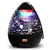 Sternenhimmel Projektor Kinderlampe Eiförmige Sternenhimmel Lampe mit Timer 8 Farbkombinationen 4...