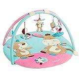 Fehn 3-D-Activity-Decke Teddy – Spielbogen mit 5 abnehmbaren Spielzeugen für Babys Spiel & Spaß von Geburt an