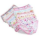Minuya Kinder Baby Mädchen Baumwolle Höschen Unterhose Unterwäsche 6er Pack 1-12 Jahre