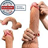 Dildo - Realistischer Dildo als Sexspielzeug für Frauen - Stolze 22cm Dildo mit Saugnapf -...