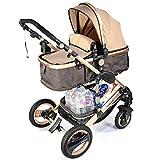 3 in 1 Kinderwagen Bambimo Kombikinderwagen Babyschale Buggy Sportsitz Babywanne Aluminium Rahmen ...........