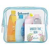 Johnsons Baby Bathtime Geschenkset (Lotion, Bad, Shampoo, Öl, Schwamm, Buch, Meilensteinkarten)