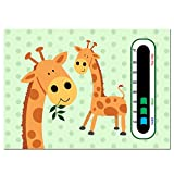 Baby Safe Ideas Giraffe Twins Kinderzimmer Thermometer–mit neuesten leicht Lesen Farbwechsel Technologie