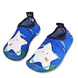 Kinder Strandschuhe Jungen Mädchen Schwimmschuhe Aqua Schuhe Baby Badeschuhe für Beach Pool Surfen Yoga Unisex(Stern Baby,32/33EU)