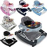 2IN1 Lauflernhilfe / Babyschaukel mit Spielcenter (12 Melodien) und Einlage (ELFENBEIN)