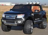 Kinderauto Elektroauto Ford Ranger Vollausstattung R/C in schwarz - Mit großem 12V/10Ah Akku 2...