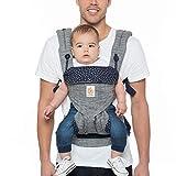 ERGObaby Babytrage bis 20kg, 360 Star Dust 4-Positionen Baby-Tragesystem, Kindertrage Rückentrage...
