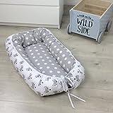 Puckdaddy Babynest 'Füchse', kuschelweiches Schlafnest für Babies