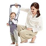 Lauflernhilfe Gehhilfe für Baby Stehen Gehen Lernen Helfer Walker für Kinder 8-24 Monthe (Grau)