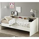 Funktionsbett 90*200 cm weiß Regalwand Kinderbett Jugendbett Bettliege Bett Jugendzimmer...