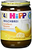 HiPP Grießbrei Banane, 6er Pack (12 x 190 g)