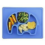 Mini-Tischset aus Silikon, Einteiliger Teller zur Ernährung von Babys, Kleinkindern und Kindern -...