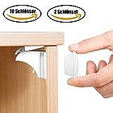 Babysicherheit Magnetisches Schrankschloss 10 Schlösser mit 2 Schlüssel, unsichtbare Magnetschloss für Schrank und Schubladen, ohne Bohren und Schrauben - TimberRain