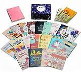Geburtstagskarten Set, 40 Stück, einzigartige Designs und Goldverzierungen, HonWally Premium...
