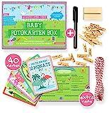 Baby Meilenstein Karten fürs erste Lebensjahr - Ideal als Geschenk zur Geburt oder in der...
