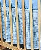Baby Comfort Volant für Gitterbett, passend für Matratzengröße 140x 70cm, kariert, blau