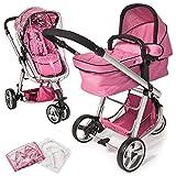TecTake 3 in 1 Kinderwagen Kombikinderwagen Buggy Babyjogger Reisebuggy Sportwagen Kids -diverse Farben- (Pink)