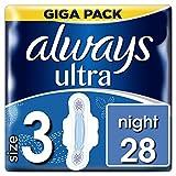 Always Ultra Night Binden (mit Flügeln) Größe:3, 3er Pack (3 x 28Stück)