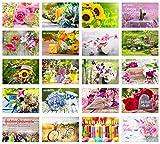 Set 20 exklusive Premium Geburtstagskarten mit Umschlag. Glückwunschkarte Grusskarte zum...