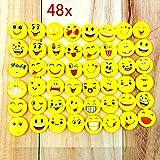 JZK Set von 48 Stücke Emoji Kinder Radiergummi Smiley Radierer, Spielzeug Gastgeschenk Geschenke...