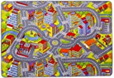 Kinderteppich Spielteppich Straßenteppich Spielmatte Kleinstadt Auto Teppich Kinderzimmer...