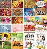 Geburtstagskarten (Set 3): 24-er Postkarten Set mit Herz & Humor - alles verschiedene Motive von...
