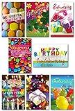 50 Geburtstagskarten Grußkarten Glückwunschkarten Geburtstag Umschläge 510-3544