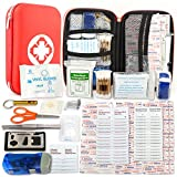 Kompakt Erste Hilfe Set mit 175 Teilen Harte Tasche- Mini First Aid Kit - Wasserdichte Medizinische...