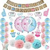 LUCK COLLECTION Baby Shower Party Dekorationen Jungen oder Mädchen Geschlecht offenbaren Party Supplies 84 Pack