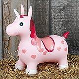 Hüpftier Hüpfpferd Sprungpferd Hopser Gummihüpfer Pferd oder Einhorn Farbauswahl, Farbe:rosa