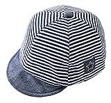 Cloud Kids Baby Kinder Mütze Junge Baseball Cap Hut Streifen Schirmmütze Sonnenhut Blau Größe 46